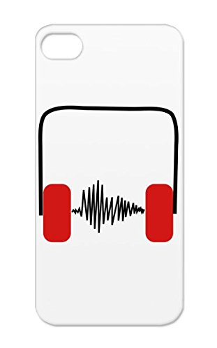 Kopfhoerer Frequenz Tpu Dirtproof Drummer Music Rock Symbols Bach Concert Star Sheet Rave House Dj Singer Headphones Clef Shapes Pop Earbuds Anthem Mozart Menalive55 Red Case For Iphone 5S