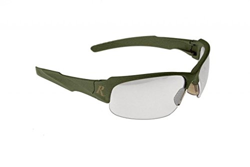 Radians Remington Protective Eyewear Glass with Clear Indoor Outdoor Lens, Matte Green
