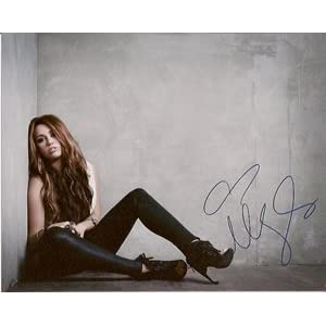 Miley Cyrus Can't Be Tamed Signed Photo #2