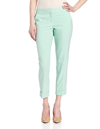 Vince Camuto Women's Cuffed Ankle Pant, New Mint, 2