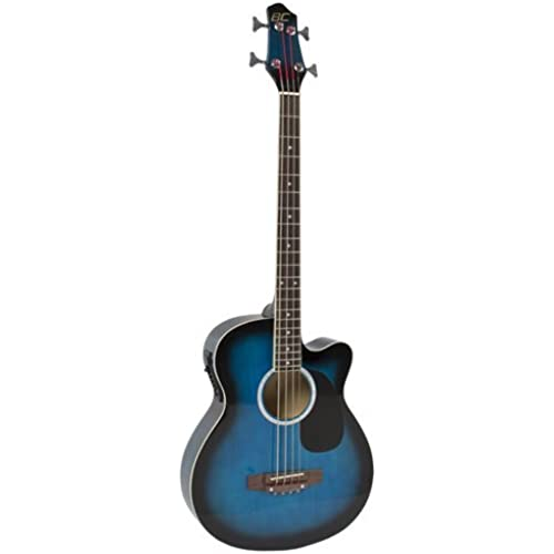 425 Electric Acoustic Bass Guitar Blue Solid Wood Construction With Equalizer 일렉트릭 어쿠스틱 베이스 기타 Best Choice Products사[병행수입]-SKY425