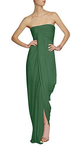 Dapene New Elegant Strapless Backless Bridesmaid Women Dresses Green