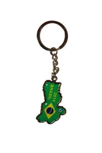 Sale alerts for SUPERDAVES SUPERSTORE Brasil Brazil Soccer World Cup 2014 Metal Keychain .. New - Covvet