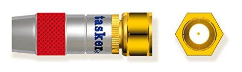 Tasker SP73 Connecteur coaxial F video 75Ohm en métal contacts plaqués or 10 pcs