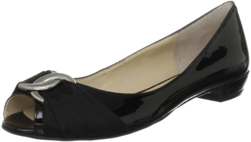 Nine West Women's Juliana3 Black Open Toe Flats 2848200979 4 UK