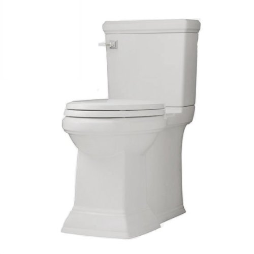 American Standard 2817.128.020 Town Square Concealed Trapway RH Elongated Toilet with Seat, White