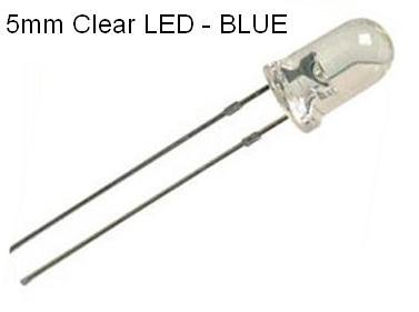Nightfire - 3Mm Clear Blue Leds (60 Pieces) With Resistors