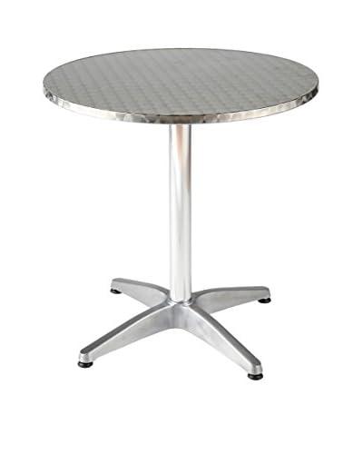 Euro Style Allan Dia 28 Bistro Table, Silver