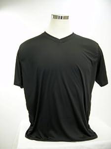 McDavid 905VT Mens Half Sleeve Referee Cut V-Neck T Shirt Black Large by McDavid