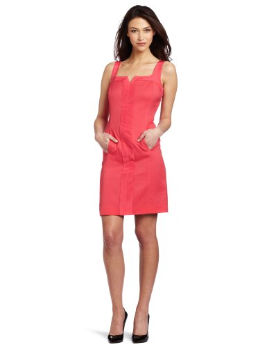 Trina Turk Women's Dacite Pique Dress, Cerise, 4