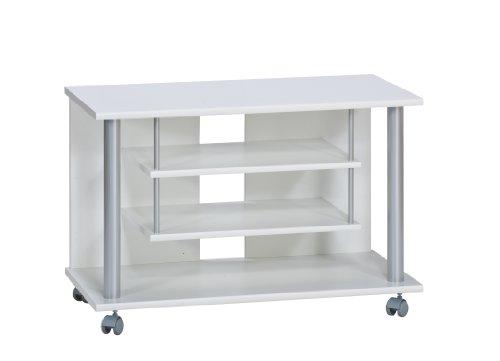 Maja 18988835 Carrello porta TV 800x545x400 mm, aspetto verniciato, colore: Bianco