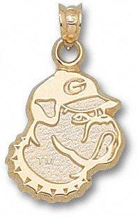 University of Georgia Bulldog Head Pendant 3/8 Inch - 10K White Gold (Georgia Bulldog Pendant compare prices)