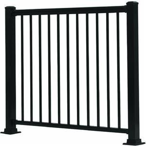 GILPIN IRONWORKS 619031B Summit 4' Black Aluminum Rail (Wrought Iron Railing For Steps compare prices)
