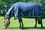 Mark Todd Lightweight Combo Turnout Rug-6'9'' Navy & Aqua