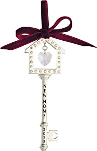 Carlton Heirloom Ornament 2013 New Home - Elegant Metal Key - #CXOR012D