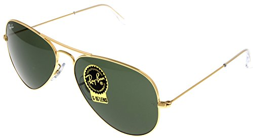 Ray Ban Sunglasses Aviator Gold Unisex RB3025 L0205 (Made In Italy Ray Ban Sunglasses compare prices)