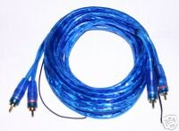 2 Rca Cable Twisted Pair Blue Remote Wire 12 Ft