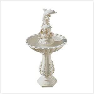 Leaping Dolphins And Waves Garden Yard Water Fountain