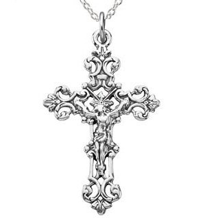 Sterling Silver CRUCIFIX JUMP RING WITH 18INCH CHAIN $35.00