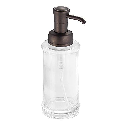 interdesign hamilton glass soap and lotion dispenser pump for kitchen or bathroom countertop. Black Bedroom Furniture Sets. Home Design Ideas