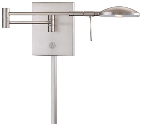 "Kovacs P4338-084 1 Light 6.25"" Height Ada Compliant Led Plug In Wall Sconce In B, Brushed Nickel"