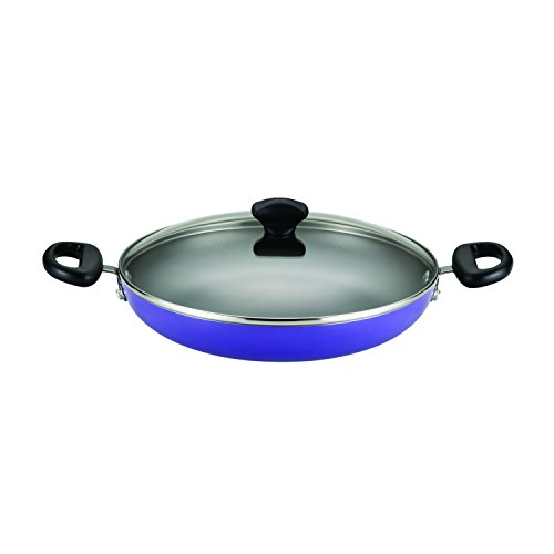 Farberware Dishwasher Safe Nonstick Aluminum 11-1/4-Inch Covered Everything Pan, Purple
