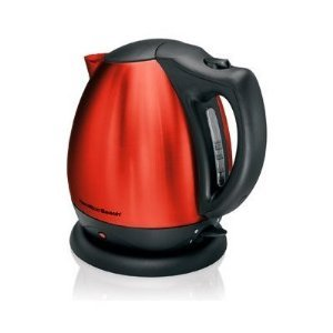 Hamilton Beach 10 Cup Electric Kettle Stainless Steel (Candy Apple Red)