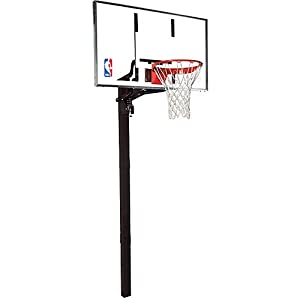 Buy Spalding In-Ground Basketball System with Glass Backboard - 60 by Spalding
