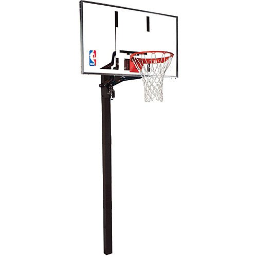 Spalding In-Ground Basketball System with Glass Backboard - 60