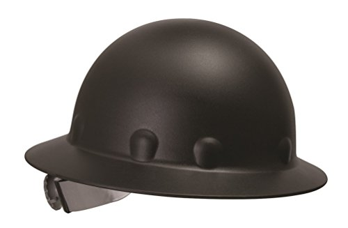 Fibre Metal P1 Roughneck Full Brim Injection Molded Fiberglass Hard Hat with Ratchet Suspension, Black (Hard Hat Honeywell compare prices)
