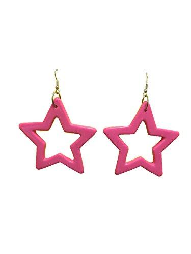 80's Star Earrings Hot
