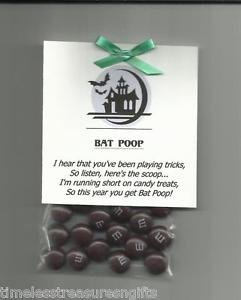 [New Homemade Halloween Bat Poop Novelty Gag Gift Chocolate Candy Treat Favor] (Homemade Halloween Costumes Party Invitations)