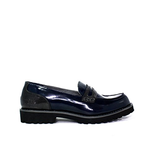 HENRY COTTON'S FRANCESINA INGLESINA BEATLES TACCO BASSO SLIP ON DONNA 152w branford 04 navy AUTUNNO INVERNO 2015 - 2016 MADE IN ITALY NUOVA COLLEZIONE AI 15 / 16 AW (38)