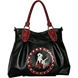 Betty Boop Purse Sitting On Name; Black With Red T...