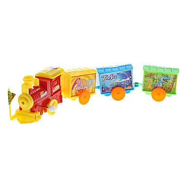 Clockwork Train Toy With 3 Coaches front-352637
