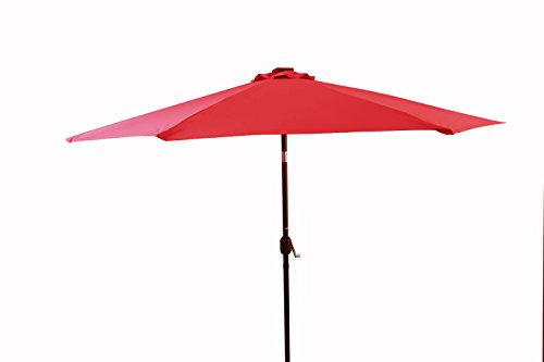 10 39 deluxe solar powered led lighted patio umbrella by