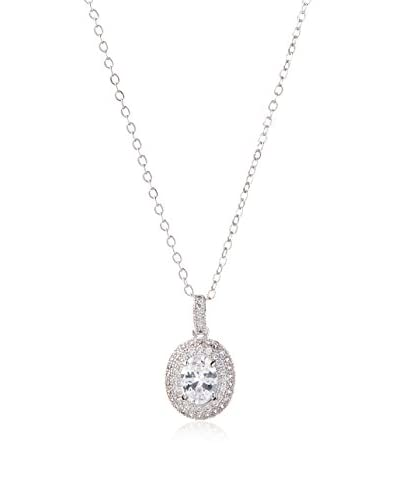 CZ by Kenneth Jay Lane Cubic Zirconia Pavé Pendant Necklace