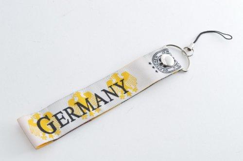 サッカードイツ代表 デザイン携帯ストラップ?サッカーグッズ