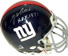 YA Tittle signed New York Giants Authentic Mini Helmet HOF 1971 - Autographed NFL Mini Helmets at Amazon.com