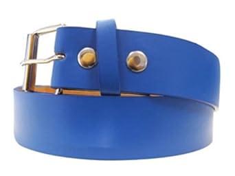 Blue Leather Belt - Large 38-40