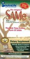 Nutralife The Original SAMe - 400 mg - 30
