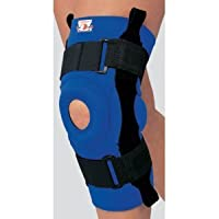 CHAMPION Sm Neoprene Knee Stabilizer with Hinged Bars, Blue, Small