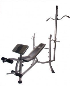 Standard Weight Lifting Bench With Lat Pull