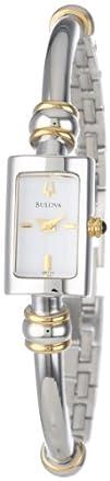 Bulova Womens 98V09 Bangle Bracelet Watch