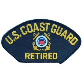US Navy Armed Forces Military Large Hat or Shirt Iron On Patch - Coast Guard - USCG United States Coast Guard Retired Applique