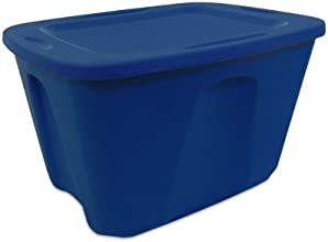 Home Products International Homz Storage Tote 18-Gallon Navy Blue Set of 8