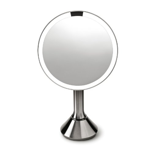 simplehuman illuminated magnifying cosmetic LED sensor mirror, make-up, shaving, 5 year guarantee
