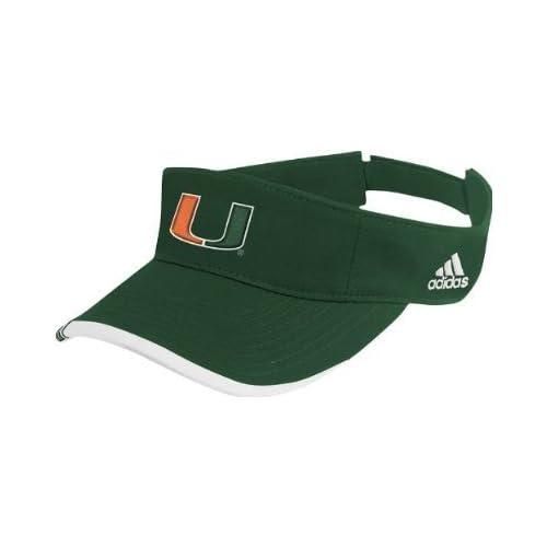 Amazon.com : Miami Hurricanes Adidas Green Golf Visor