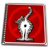 3dRose db_33653_1 Butts Cat Butt 1 Red Sign-Drawing Book, 8 by 8-Inch