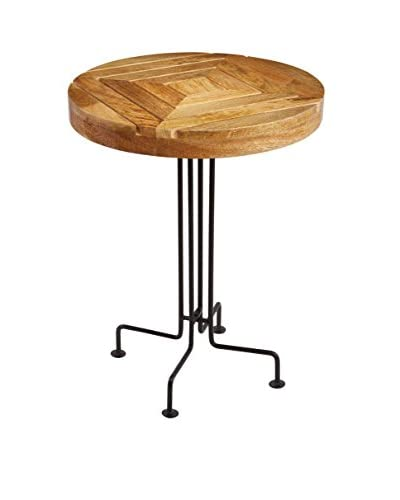 Artistic Lighting Mango Wood Slatted Accent Table, Natural/Black